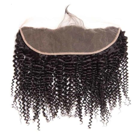 Brazilian Human Kinky Curly Lace Frontal Closure With Baby Hair (1)