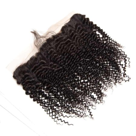 Brazilian Human Kinky Curly Lace Frontal Closure With Baby Hair (5)