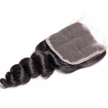 Brazilian Human Remy Loose Wave Middle Part Lace Closure With Baby Hair (1)
