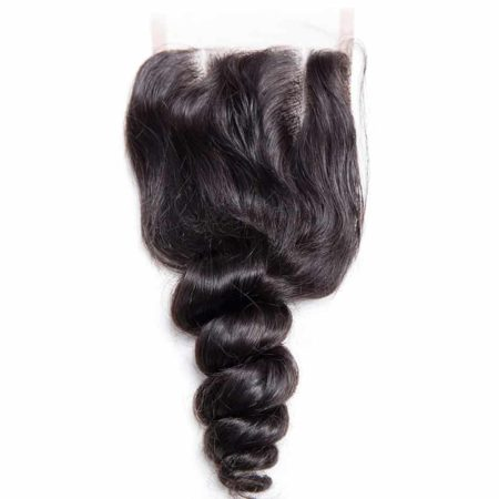 Brazilian Human Remy Loose Wave Middle Part Lace Closure With Baby Hair (5)
