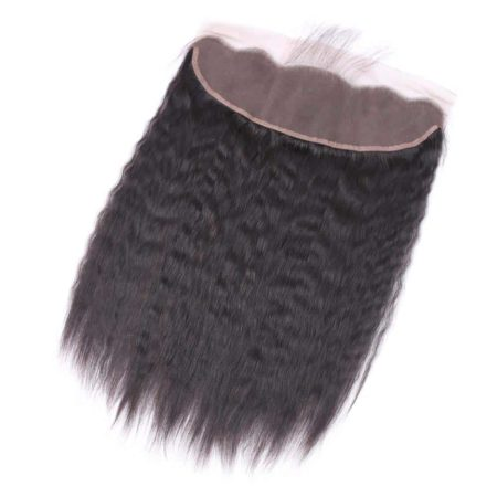 Brazilian Kinky Straight 13x4 Ear To Ear Lace Frontal Hair Natural Color Free Part (5)