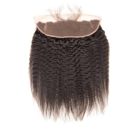 Brazilian Lace Frontal Closure Kinky Straight 13X4 Pre Plucked Ear To Ear Hair (1)