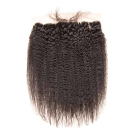 Brazilian Lace Frontal Closure Kinky Straight 13X4 Pre Plucked Ear To Ear Hair (6)
