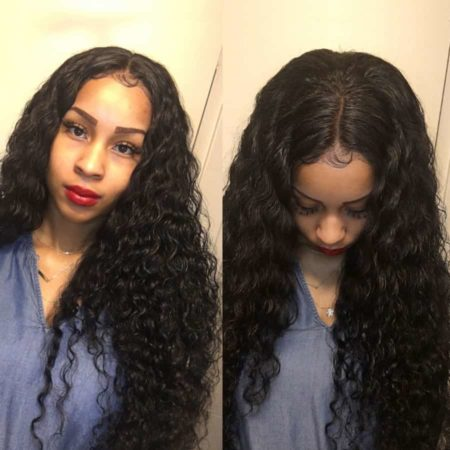 Brazilian Loose Deep Wave Hair Human Bundles With Frontal 13x4 Lace Frontal (6)