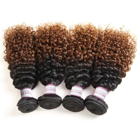 Brazilian Ombre 1B 30 Kinky Curly 3 or 4 Bundles With Closure Hair Piece (6)