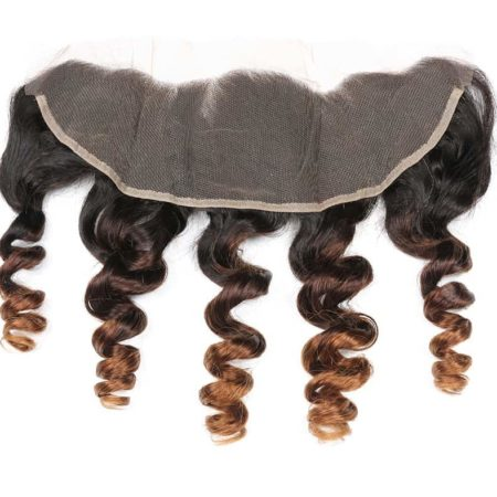 Brazilian Ombre Loose Wave Lace Frontal Closure Ear to Ear 13x4 Remy Human Hair 1B 4 30 Color Free Part (5)
