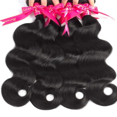 Brazilian Remy Body Wave Human Hair Bundles With 13x4 Frontal Closure With Baby Hair (4)