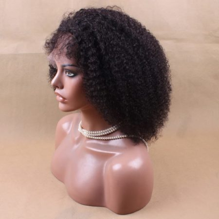 Brazilian Short Kinky Curly Lace Front Human Hair Wigs (1)