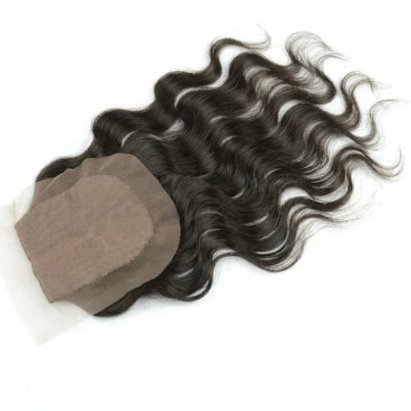 Brazilian Silk Base Closures J Part Virgin Hair 4x4 Natural Color (5)