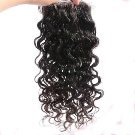 Brazilian Silk Base Closures Loose Curly Virgin Hair 4X4 With Baby Hair (1)