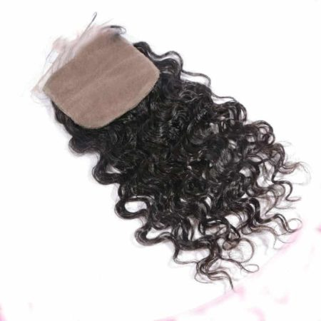 Brazilian Silk Base Closures Loose Curly Virgin Hair 4X4 With Baby Hair (4)