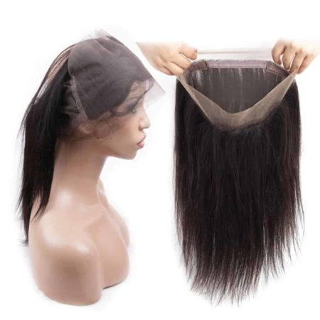 Brazilian Straight Human Hair 360 Lace Frontal Closure With Baby Hair (1)