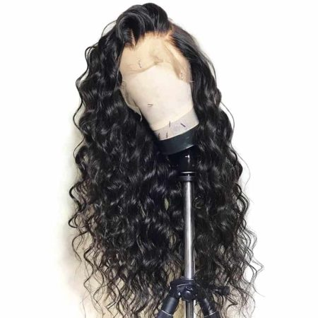 Brazilian Virgin Loose Wave Pre Plucked Full Lace 100% Human Hair Wigs (5)
