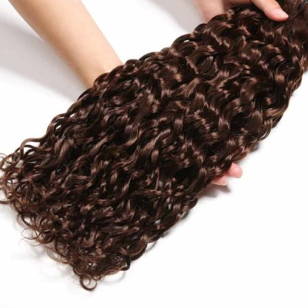 Brazilian Wet And Wavy Deep Wave Remy Hair Extension Light DarkBrown 3 Or 4 Bundles #4 #2 Hair Weave (5)