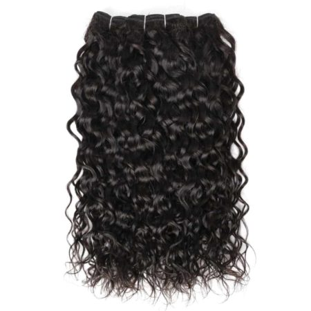 Brazilian Wet And Wavy Human Hair Weave 3 Bundles Deal With 13x4 Lace Frontal (4)