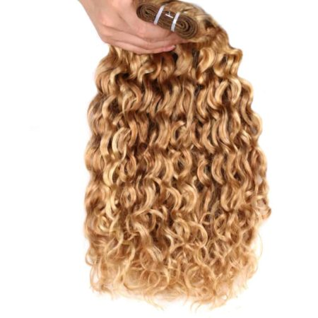 Brazilian Wet And Wavy Human Hair Weave Ombre P27 613 Two Tone Hair Extensions (1)