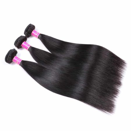 Cheap Brazilian Hair Bundles With Frontal Human Straight Hair Natural Color (6)
