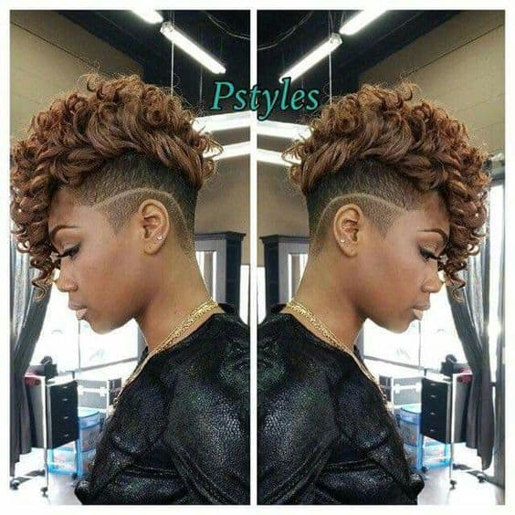 Curly hair with undercut