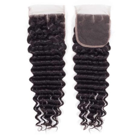 Deep Water Wave Weave Peruvian Remy Human Hair 3 Bundles With Lace Closure (3)