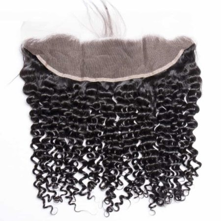 Deep Wave Human Lace Frontal Weave Closure Natural Hair Line Pre Plucked With Baby Hair (5)