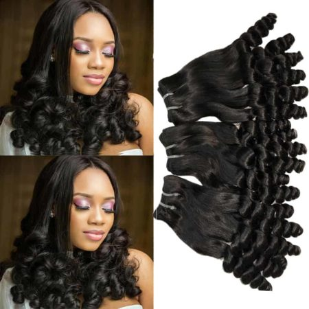 Double Drawn Funmi Hair Spring Curly Human Hair Bouncy Curl Bundles (1)