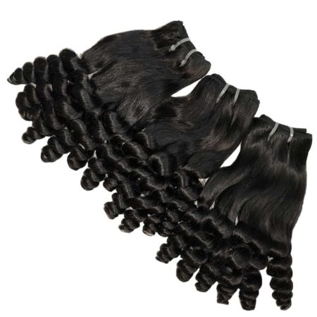 Double Drawn Funmi Hair Spring Curly Human Hair Bouncy Curl Bundles (2)