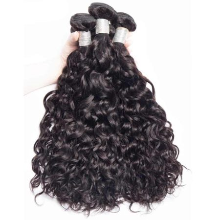 Fresh Wet And Wavy Brazilian Remy Hair Extensions Weave Bundles Natural Black 1 Or 3 Or 4 PCS Can Be Dyed And Bleached (1)
