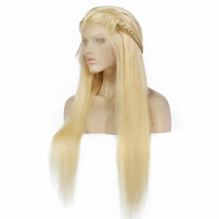 Full Lace Human Hair Wigs With Baby Hair Brazilian 613 Blonde (2)