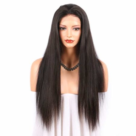Full Lace Malaysian Human Hair Wigs Silky Straight Glueless With Baby Hair (1)