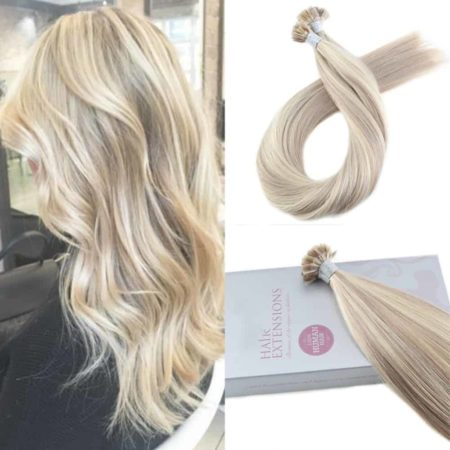 Fusion Straight Keration Flat Tip 100% Human Hair Extensions 1.0g per s 50g per pack (5)