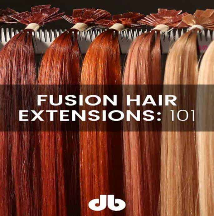 Fusion pre bonded hair extension