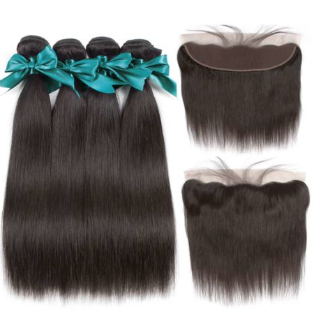Hair Bundle Deals With Frontal Brazilian Straight Human Hair Weave Bundles (6)