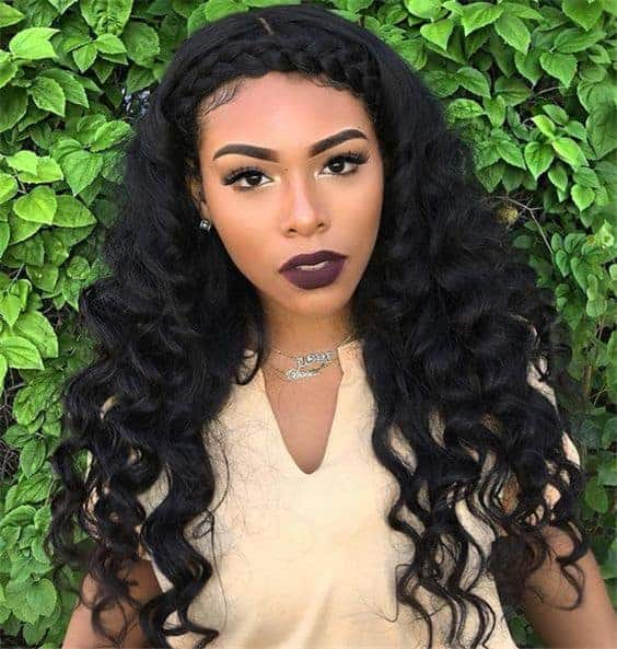 Halo sew in hairstyle