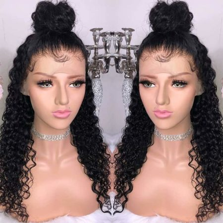 High Quality Brazilian Full Lace Wigs Curly Hair With Baby Hair (3)