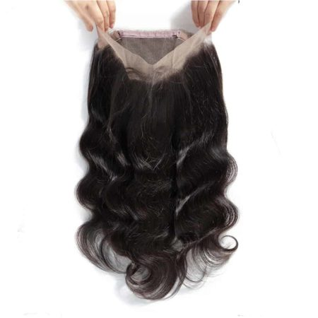 Human Body Wave Peruvian Hair 360 Lace Frontal Closure With Baby Hair (6)