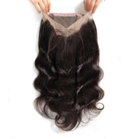 Human Brazilian 360 Lace Frontal Closure Body Wave With Baby Hair (3)