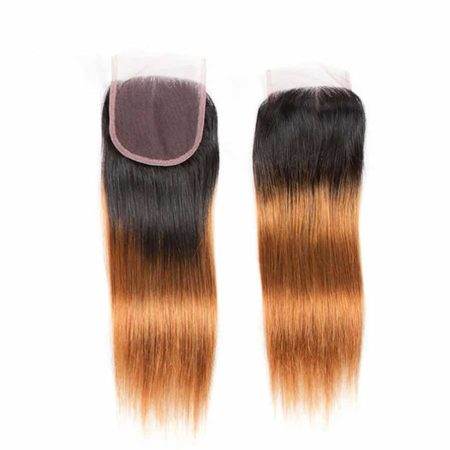 Human Malaysian Hair Straight 4x4 Lace Closure #T1B 30 Color (1)