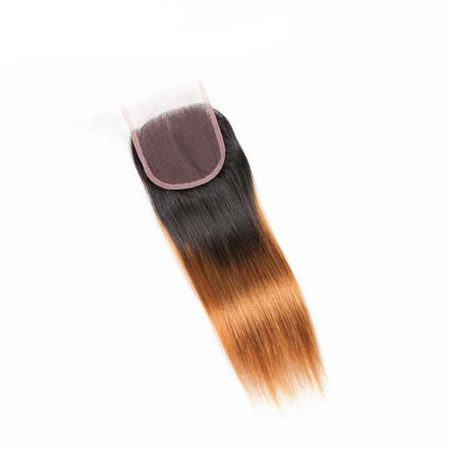 Human Malaysian Hair Straight 4x4 Lace Closure #T1B 30 Color (6)