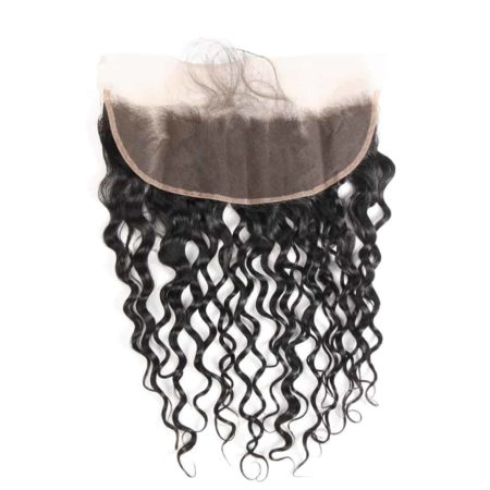 Indian 13x4 Lace Frontal Closure Water Wave Ear To Ear Free Part With Baby Hair 100% Remy Human Hair (1)