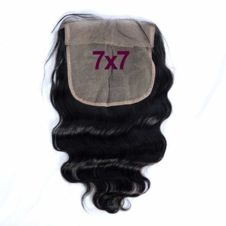 Indian 7x7 Swiss Lace Frontal Closure Body Wave Remy Hair Bleached Knots (2)