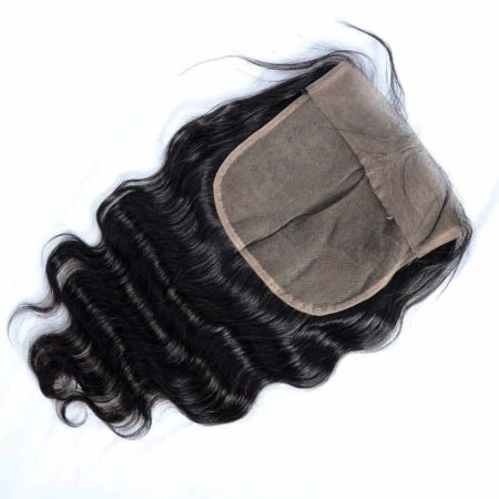 Indian 7x7 Swiss Lace Frontal Closure Body Wave Remy Hair Bleached Knots (3)