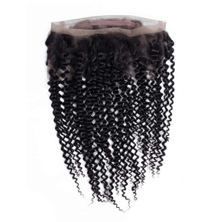 Indian Human Kinky Curly 360 Lace Frontal With Baby Hair Natural Color (2)