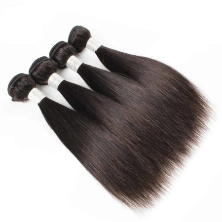 Indian Human Straight 4 Bundles with 2x6 Lace Closure 50g per Piece (1)
