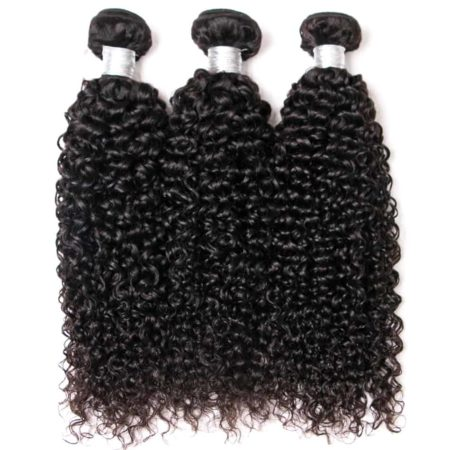 Indian Kinky Curly Lace Frontal Closure With 3 Bundles Human Hair (6)