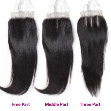 Indian Straight 100 Human Hair Weave 4 Bundle Deals With Closure (2)