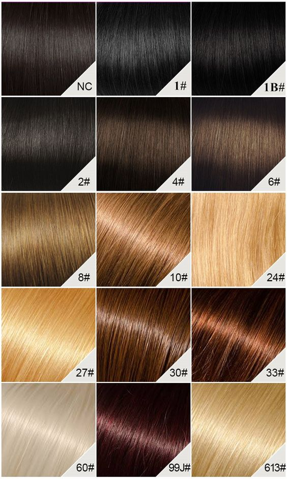 Indian lace wig color chart