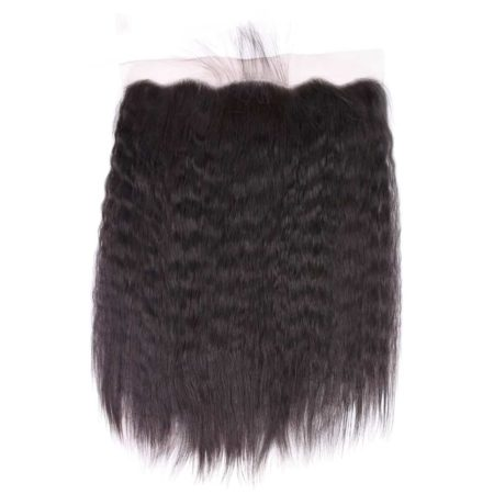 Lace Frontal Closure Sew In Malaysian Kinky Straight Hair 13x4 Swiss Lace (5)