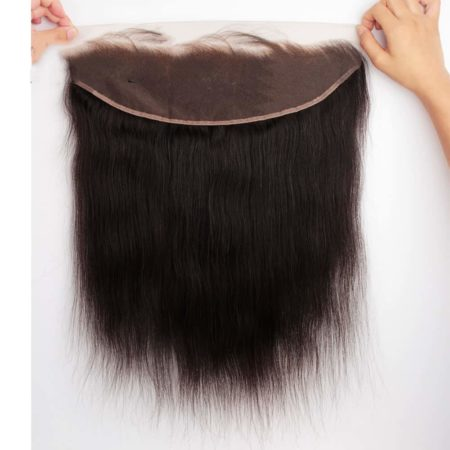 Lace Frontal With Bleached Knots Brazilian Remy Straight 100% Human Hair (6)