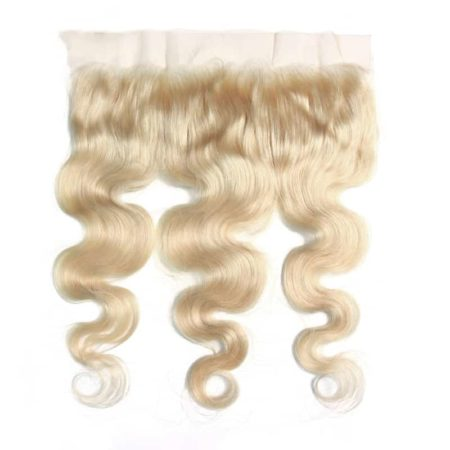 Malaysian 13x4 Lace Frontal Remy Human Hair Body Wave 613 Color Blonde (5)