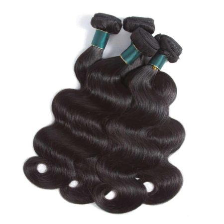 Malaysian Body Wave Human Hair Bundles Weaves with 360 Lace Frontal Natural Color (6)